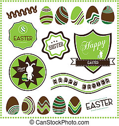 Set of easter ornaments
