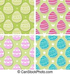 Set of Easter patterns