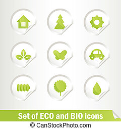 Set of Eco and Bio icons