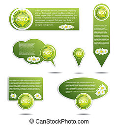 Eco Design Elements - Set of Eco Design Elements.Promotional...