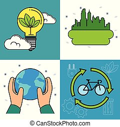 set of eco energy elements