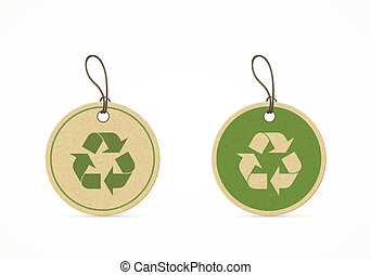 eco friendly labels - set of eco friendly labels