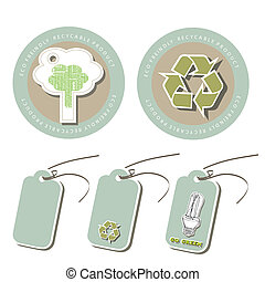 Set of Eco friendly tags