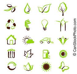 set of eco icons