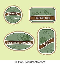 Set of Eco Natural Labels