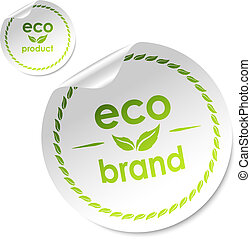set of eco stickers, vector