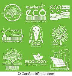 Set of ecology, environment logo