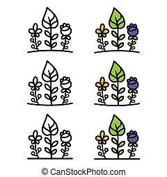 Set of ecology logo elements.