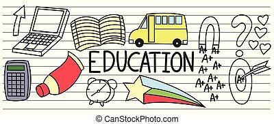 Set of education doodles