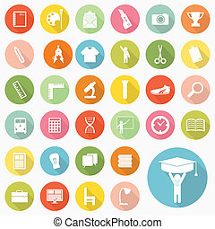Set of education icons design