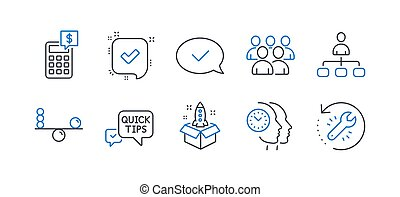 Set of Education icons, such as Startup, Time management, Confirmed. Vector