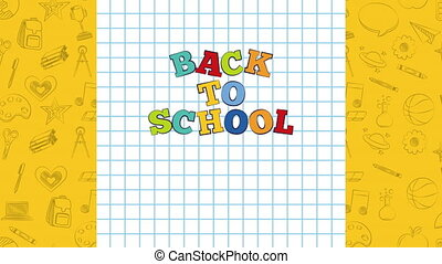 set of education supplies ,back to school