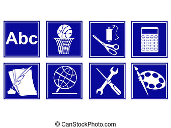 Set of educational symbols