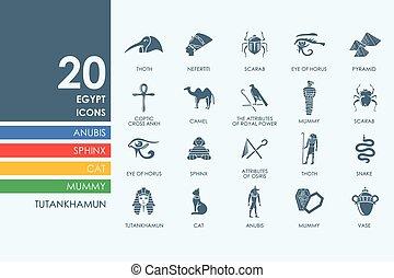 Set of Egypt icons