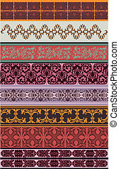 Set Of Eight Color Borders