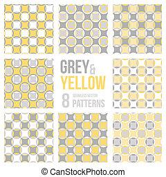 Set of eight seamless patterns