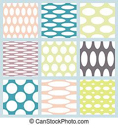 Set of elegant polka dot patterns.