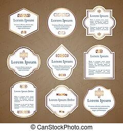 Set of elegant vintage labels