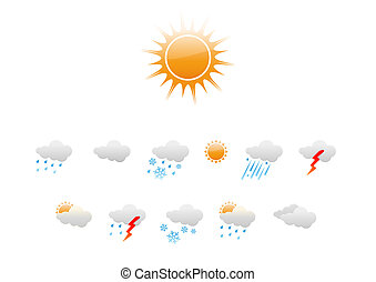 Weather Icons - set of elegant Weather Icons for all types ...