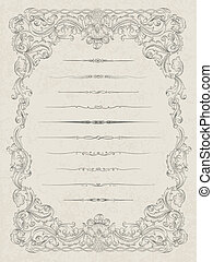 Set of elements for abstract certificate design, vector eps10