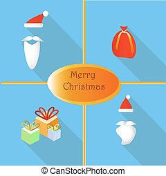Set of elements for Christmas and New Year.