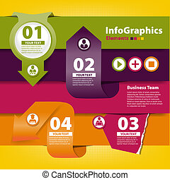 Set of elements for infographics