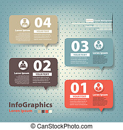 Set of elements for infographics in the form speech baloons
