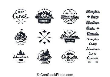 Set of emblem and logo for t-shirt
