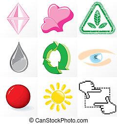 Set of Emblems