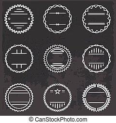 set of emblems and badges