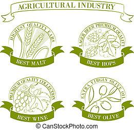 Set of emblems and labels.