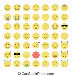 Set of Emoji, Avatar and Emoticons.