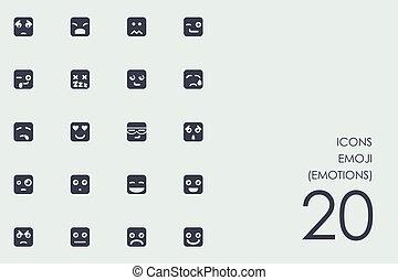 Set of emoji, emotions icons