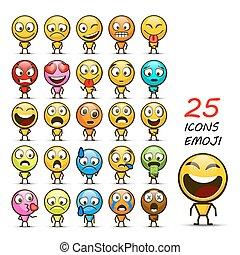 Set of Emoji. Vector illustration