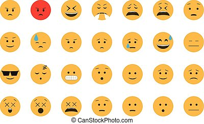 Set of Emoticon vector.
