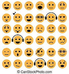 Set of Emoticons. Smiley icons