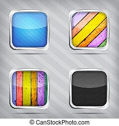 set of empty icons
