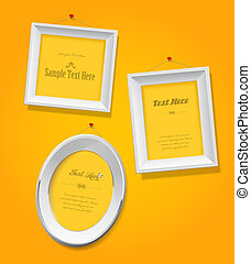 Set of empty picture frames for your own photographs.
