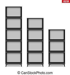 Empty rack with shelves or bookshelf