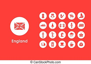Set of England simple icons