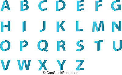 set of English alphabet, vector