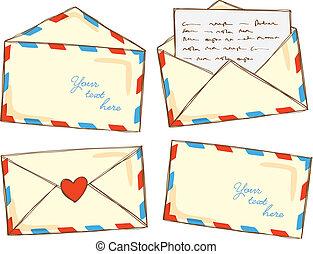 set of envelope doodle