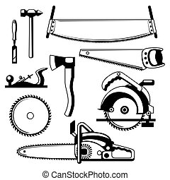 Set of equipment and tools for forestry and lumber industry