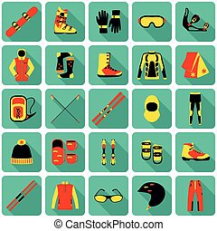 Set of equipment for winter sports - Set of equipment, cloth...