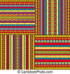 Set of ethnic colored backgrounds