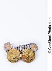 euro coins and virtual money