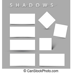 Set of evctor shadow effects - Set of vector shadow effects...