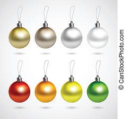Set of evening balls