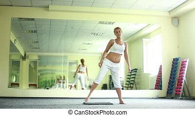 Set of exercises of yoga.