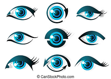 Set of Eye - illustration of set of different shape of eye...